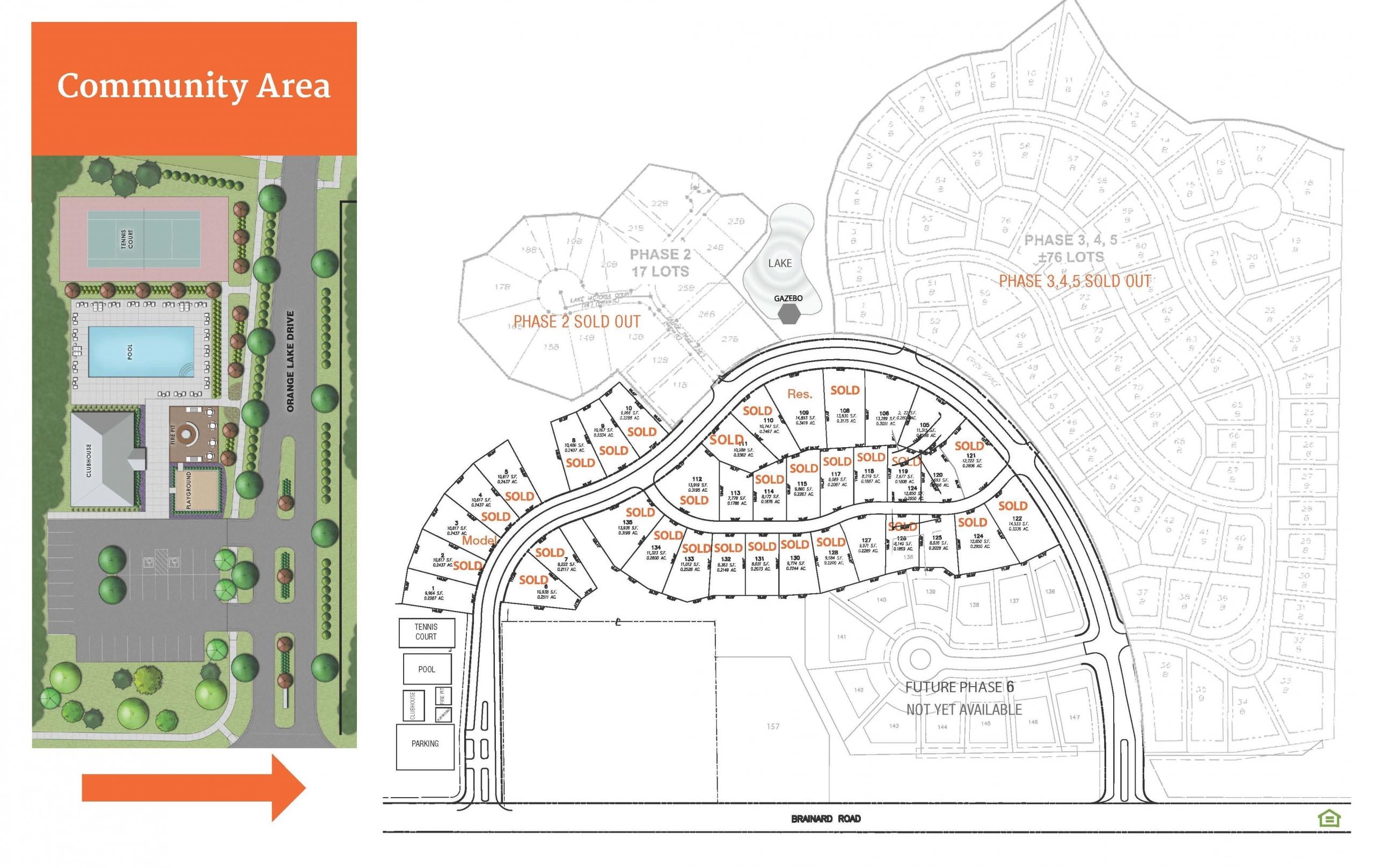 Lakes of Orange Site Plan